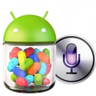 Siri vs. Google Sprachsuche (Android 4.1 Jelly Bean)