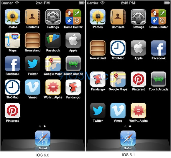 iOS 6 HomeScreen Skalierung