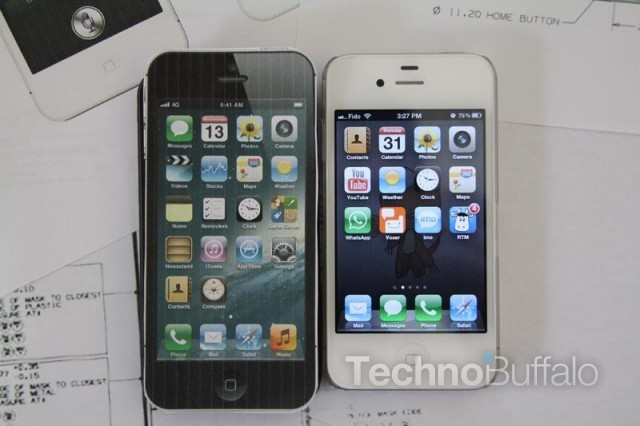 iPhone 5 Mockup vs. iPhone 4S