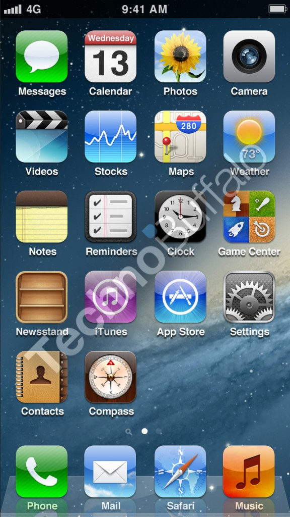 iPhone 5 Homescreen