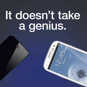 Samsungs neue Werbekampagne – It doesn´t take a genius.